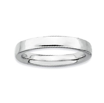 Sterling Silver 3.5mm Simple Polished Stackable Ring
