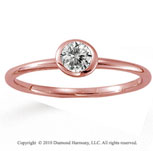 14k Rose Gold Round Bezel Diamond Stackable Ring