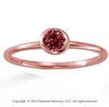 14k Rose Gold Round Bezel Ruby Stackable Ring
