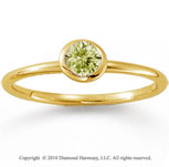 14k Yellow Gold Round Bezel Yellow Sapphire Stackable Ring