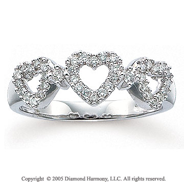 1/4 CaratW Diamond 14k White Gold Heart Ring