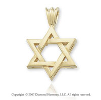 14k Yellow Gold Classic Small Star of David Pendant