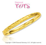 14k Yellow Gold Fancy Hidden Clasp Children's Bracelet