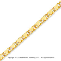 14k Yellow Gold Heart Children's Bracelet