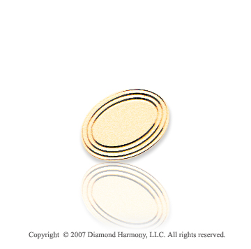 14k Yellow Gold Stylish Oval Carved 8mm Tie Tack