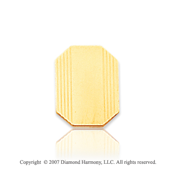 14k Yellow Gold Modern Style Lines Pattern Tie Tack