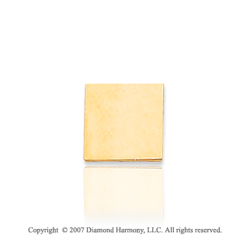 14k Yellow Gold Stylish Smooth Square 9mm Tie Tack