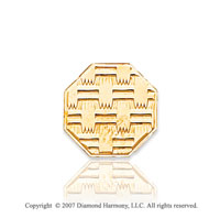 14k Yellow Gold Classic Woven Style Octagon Tie Tack