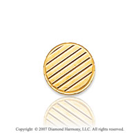 14k Yellow Gold Wooden Panel Style Circle Tie Tack