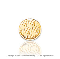 14k Yellow Gold Woven Style Circle Carved Tie Tack