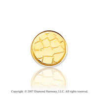 14k Yellow Gold Stone Wall Style Carved 11mm Tie Tack