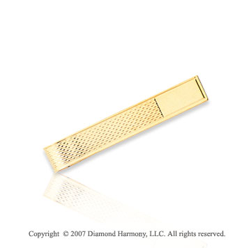 14k Yellow Gold Modern Fashionable Suave Tie Bar