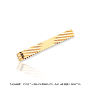 14k Yellow Gold Classic Fashionable Dashing Tie Bar