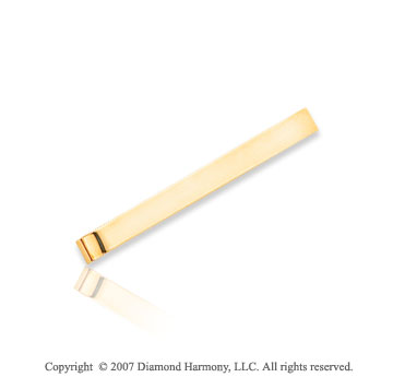 14k Yellow Gold Classic Slick Stylish Excellent Tie Bar