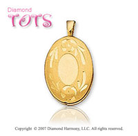 Heart Carved Signet 14k Yellow Gold Children's Locket
