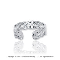 14k White Gold Stylish Filigree Toe Ring