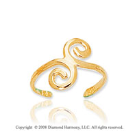 14k Yellow Gold Shiny Elegant Toe Ring